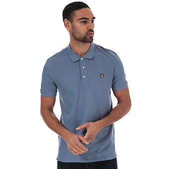 Men's Lyle And Scott Slim Stretch Polo Shirt in Blue
