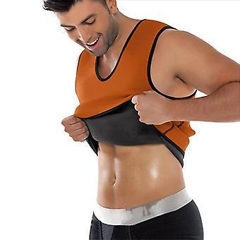 Sports tank top with sauna effect-Orange
