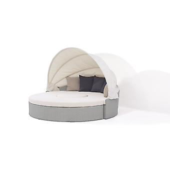 Polyrattan Sonneninsel Big Moon - grau satiniert
