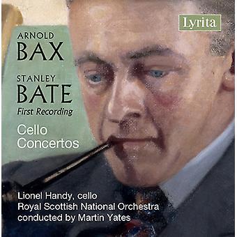 Bate / Bax / Handy / Yates - Stanley Bate & Sir Arnold Bax: Cello Concertos [CD] USA import