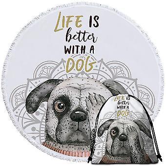 Elämä on parempaa koiran ranta pyyhkeellä