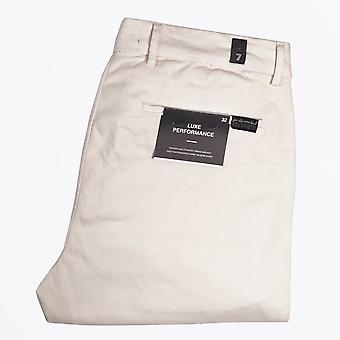 7 For All Mankind - Slimmy Luxe Performance Sateen Chinos - Zout Wit