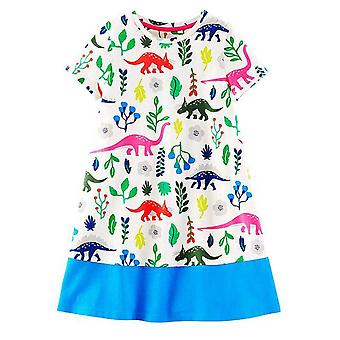 Party Dress, Leaves And Dinosaurs Design, Infant