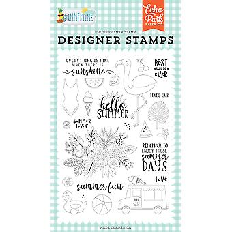 Echo Park Summer Lovin' Clear Stamps