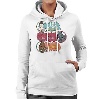Star Wars The Good The Bad The Wookie Women's Hooded Sweatshirt