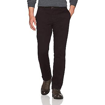 Goodthreads Men's Straight-Fit Washed Stretch Chino Pant, Black, 33W x 32L