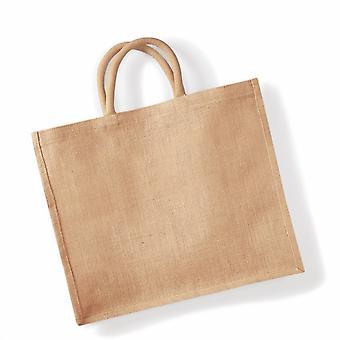 Westford Mill Jumbo Jute Shopper Bag (29 Litres) (Pack of 2)
