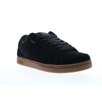 Etnies Kingpin Mens Black Suede Low Top Lace Up Skate Sneakers Shoes