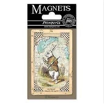 אליס ארנב לבן 8x5.5cm מגנט (EMAG014)