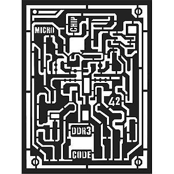 Stamperia Dicke Schablone 15x20cm Mikrochip