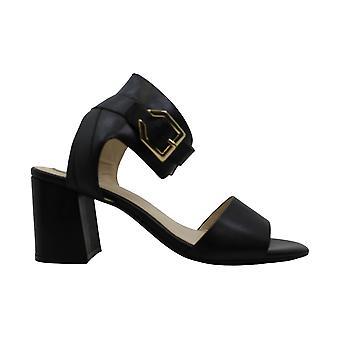 Cole Haan Womens Avani Leather Block Heel Dress Sandals Black 10 Medium (B,M)