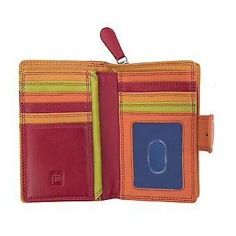 Primehide RFID Blocking Womens Leather Purse Wallet Card Holder Ladies 7080
