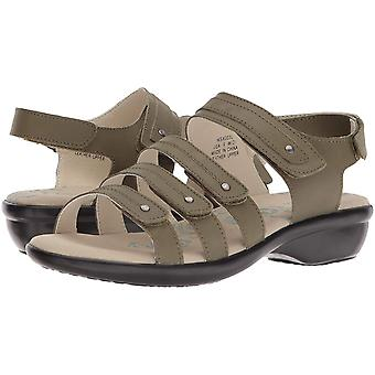 Propét Womens Aurora Leather Open Toe Casual Strappy Sandals
