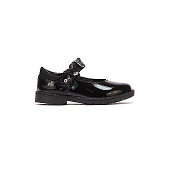 Kickers Lachly Butterfly MJ Infants Black Shoes