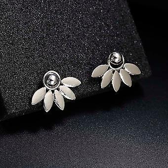 Boucles d'oreilles Silver Leaf Ear Jacket Stud