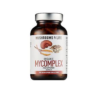 Mushrooms4Life Organic Mycomplex Caps 60 (ML0009)