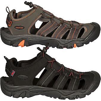 Trespass Mens Torrance Fechado dedo do pé ajustável ao ar livre caminhando sandálias