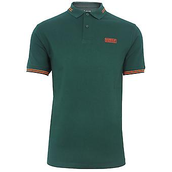 Barbour international men's seaweed essential tipped polo shirt