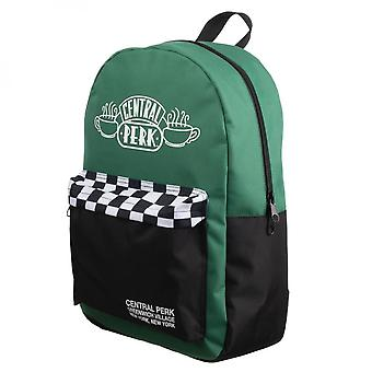 Central Perk Green Checker Mixblock Backpack