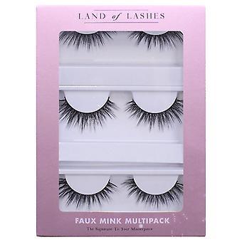 Land of Lashes Faux Mink False Eyelashes Multipack - Sofia Fake Lashes - 3 Pairs