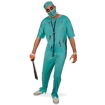 Horror Chirurg Mannen Kostuum Halloween Blood Doctor Nurse Costume Men's Theme Party