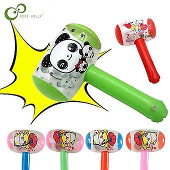 1pc barato dibujos animados inflable martillo de aire con bell niños soplar (al azar)