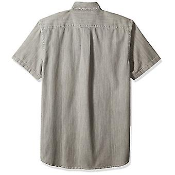 Goodthreads Men's Slim-Fit Short-Sleeve Denim Shirt, Washed Grey, Medium