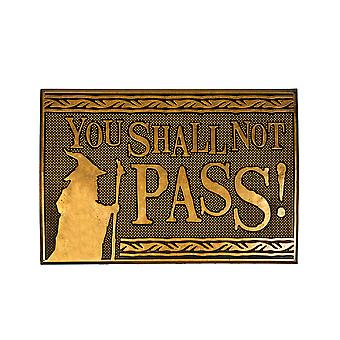 Lord of The Rings You Shall Not Pass Rubber Doormat Welkom Home LOTR Gifts