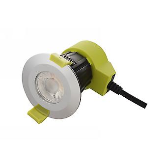 Dimmable LED Recessed Downlight, Polacco Chrome, 38 gradi Beam Angle, 760lm, 2700K, IP65, DRIVER INCLUDED