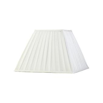 Square Pleated Fabric Shade White 175, 350mm x 250mm