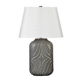 1 Lámpara de Mesa Ligera Gris, E27