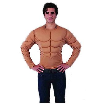 Orion kostuums mens Muscle man borst top onbeschoft superheld hert doen fancy dress