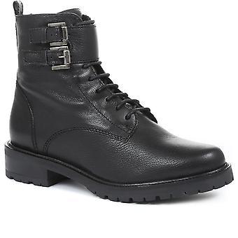 Jones Bootmaker Womens Rome Leather Commando Boots