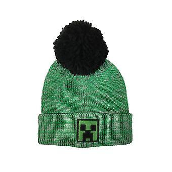 Minecraft Creeper Face Green Bobble Hat