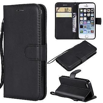 Iphone SE / 5s / 5 Wallet Case ZWART