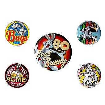 Looney Tunes, 5x Pins - Bugs Bunny 80th