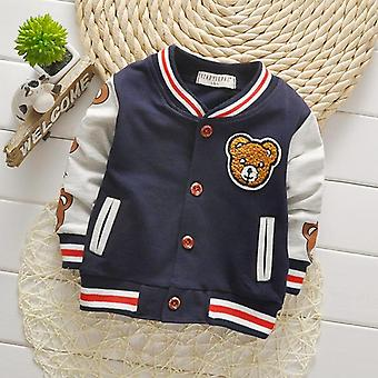 Spring Autumn Baby Outwear Boys Coat Children Girls Clothes Kids Baseball Infant Sweatershirt- Toddler Fashion Brand Jacket