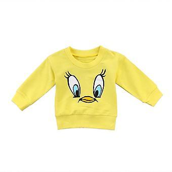 Dívčí mikiny, sladké batole děti ležérní kreslené top tričko