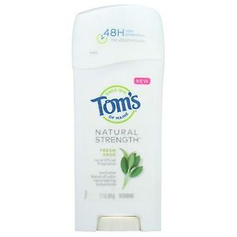 Tom's Of Maine Natural Strength Deodorant, Fresh Sage 2.1 Oz