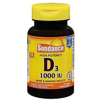 Sundance Sundance High Potency Vitamin D3 Quick Release Softgels, 1000 IU, 100 Tabs