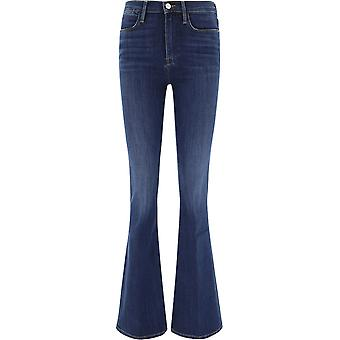 Frame Lhf865dublin Women's Blue Cotton Jeans
