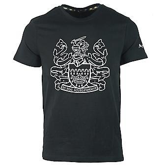 Aquascutum Aldis Logo Musta T-paita
