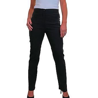 Frauen's Straight Leg High Waist Hose Slim Fitted Hose mit Taschen 6-16