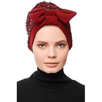 Turban With Fly And Sequins