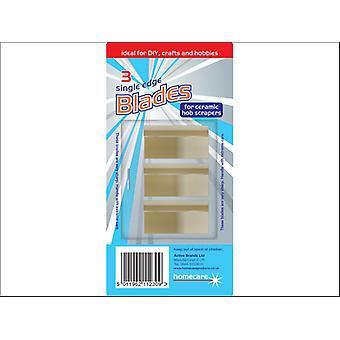 Homecare Ceramic Hob Scraper Blades x 3 84858