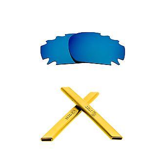 استبدال العدسات عدة ل Oakley تنفيس سباق سترة زرقاء مرآة صفراء مضادة للخدش المضادة للوهج UV400 من قبل SeekOptics