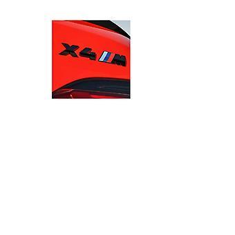 Gloss Black BMW X4 M Letters Rear Boot Lid Trunk Badge Emblem For X Series F26 G02 165mm x 25mm