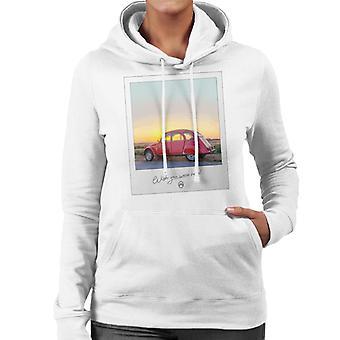 Citro?n 2CV Wish You Were Here Photo For Light Women's Hooded Sweatshirt