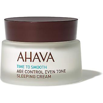 Ahava Tiempo para suavizar el control de la edad incluso tono crema para dormir 50ml