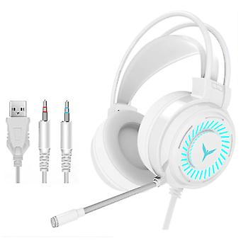 H & A Gaming Headphones Wired for PC / Xbox / PS4 / PS5 - Headset Headphones with Microphone White